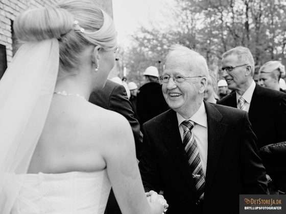 bryllupsfotograf brud lykønskes