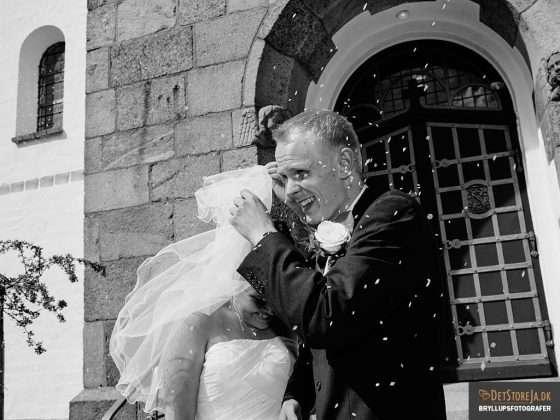 brudepar og riskast fotograf til bryllup