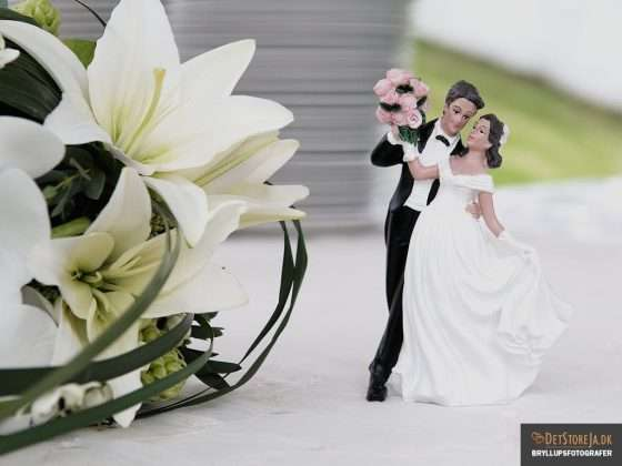borddekoration dansende brudepar