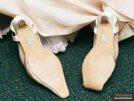 bryllupsfotograf brudens skosåler