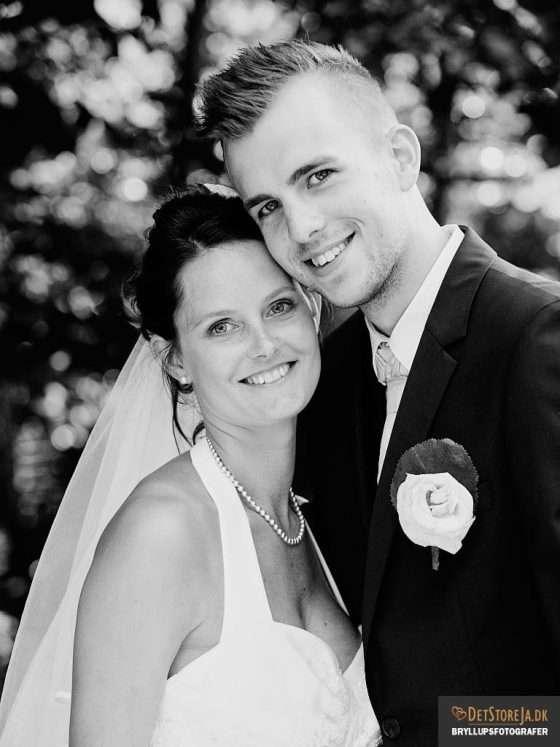 fotograf til bryllup brudepar kind mod kind
