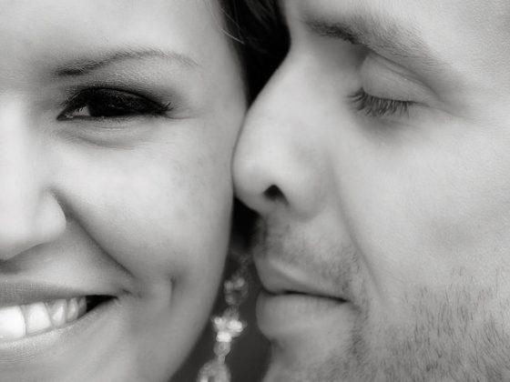 bryllupsfotograf close-up af brudepar