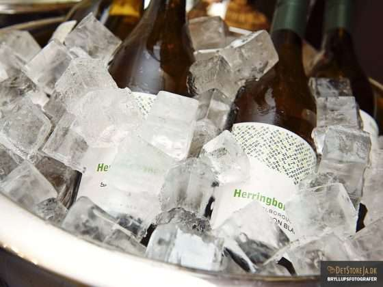 bryllup hvidvin på is reception