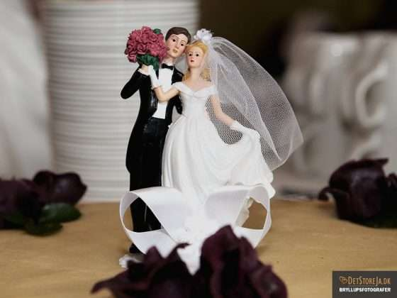 kransefigur bryllupskage