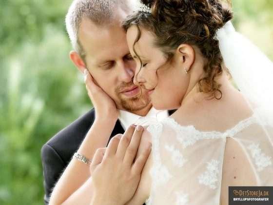 bryllupsfotograf smukt øjeblik for brudepar