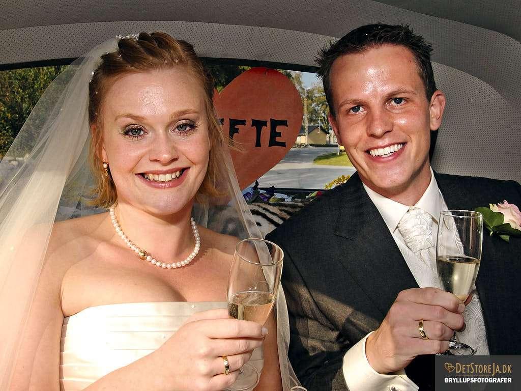 nygift brudepar læsø
