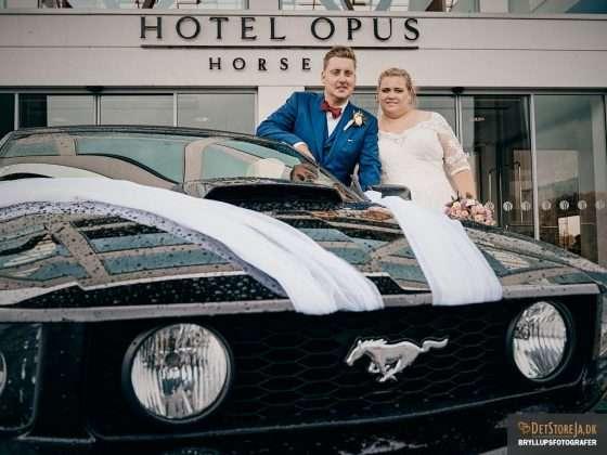 bryllupsfotograf horsens ford mustang