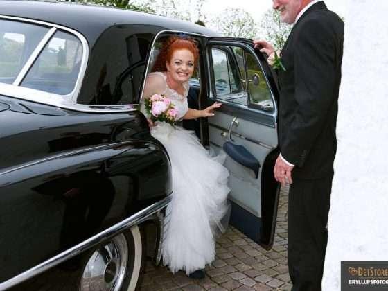 bryllupsfotograf hobro nordjylland brudebil