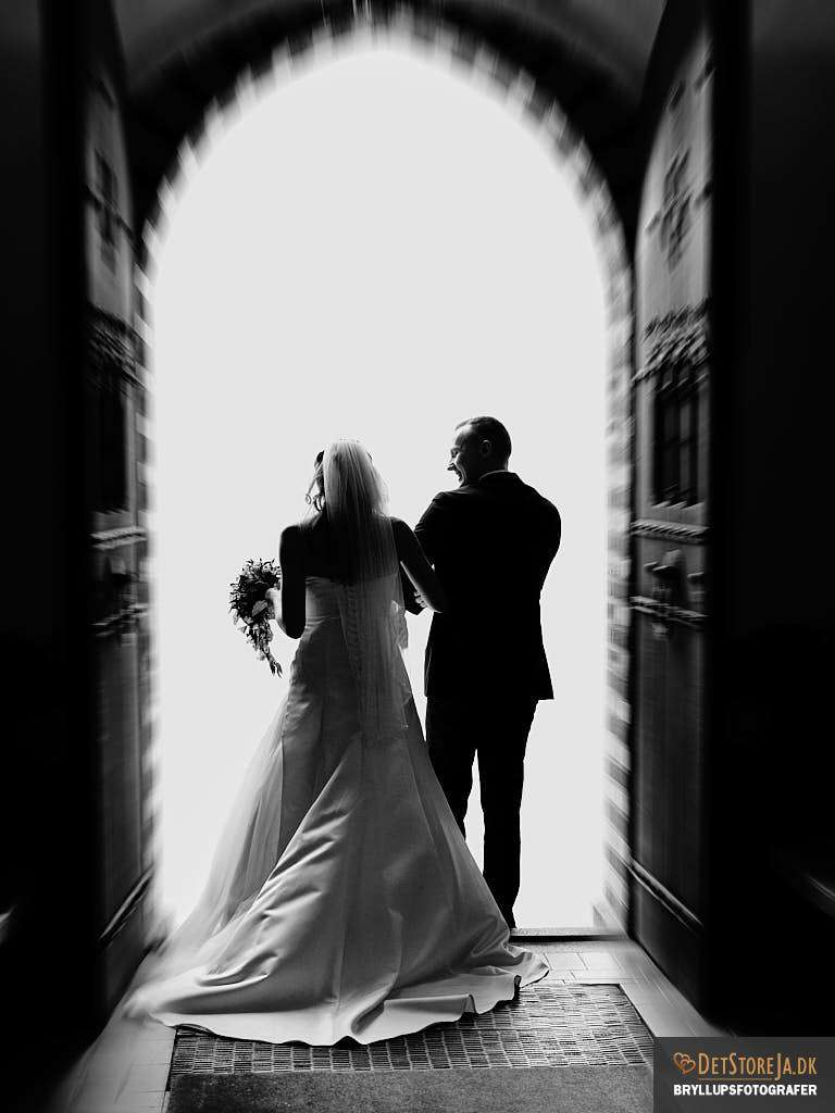 wedding photographer denmark elopement marriage church exit